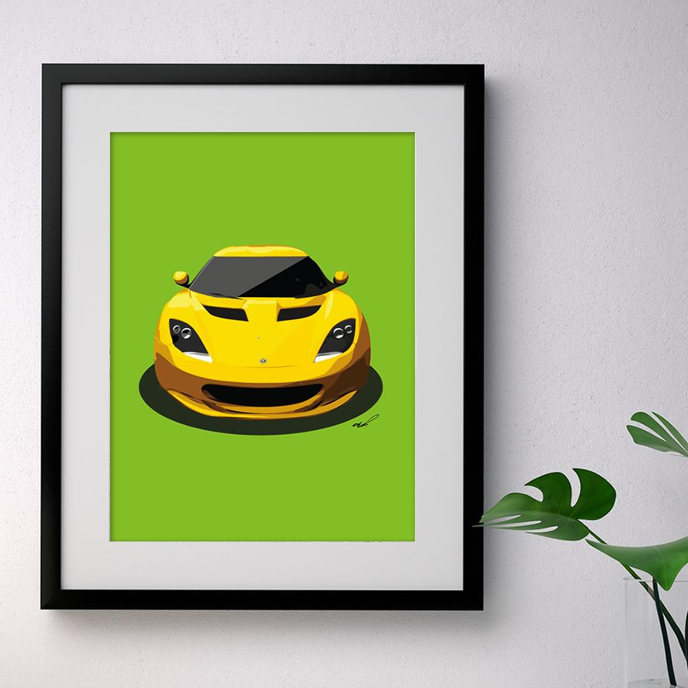 evora yellow green portrait